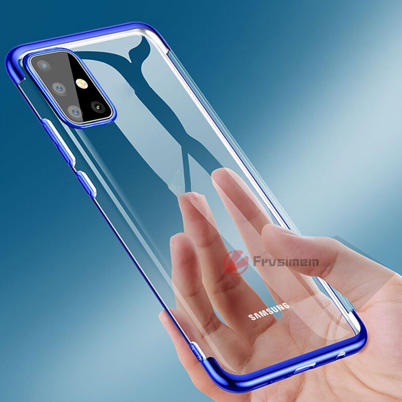 3D Laser Plating Soft TPU Clear Case For Samsung Galaxy A51 A71 M21 A01 A11 A21S A31 A41 M11 M31 M30S Silicone Transparent Cover
