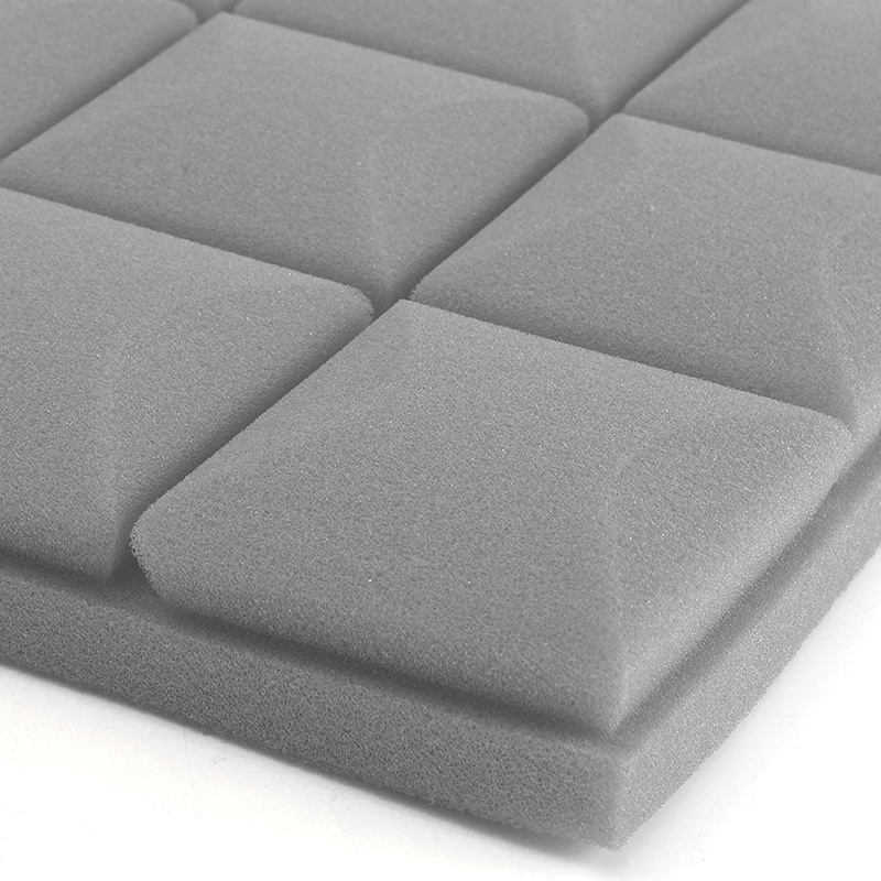 4Pcs/Set Studio Soundproof Foam Panels Wall Acoustic Sound Absorption Sponge Drum Room Wedge Tiles Polyurethane Isolation Eponge