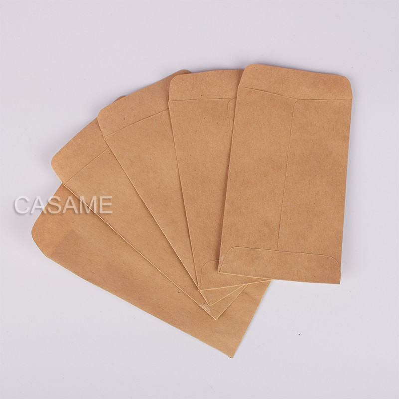 6x10cm Craft Cookie Bags 100pc Kraft Paper Bag Mini Envelope Gift Bags Candy Bags Snack Baking Package Supplies Gift Wrap Glue
