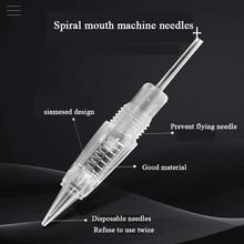 50 adet Microblading makine iğneleri 1RL/3RL/5RL/5F/7F kartuş dövme İğneler kaş/dudak kalıcı makyaj aksesuarları malzemeleri