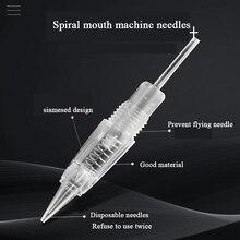 50 sztuk Microblading igły do maszyny 1RL/3RL/5RL/5F/7F nabój do tatuażu igły brwi/wargi permanentne akcesoria do makijażu dostaw