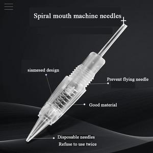 Image 1 - 50pcs Microblading Machine Needles 1RL/3RL/5RL/5F/7F Cartridge Tattoo Needles Eyebrow/Lip Permanent Makeup Accessories Supplies