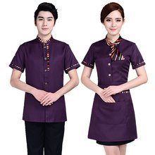 Униформа для отеля женское летнее платье с коротким рукавом
