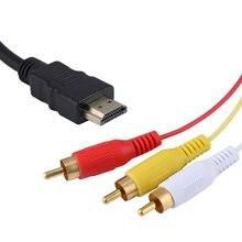 Đồng HD RCA Cáp HD Nam Để 3RCA AV Composite Nam M/M Kết Nối Cáp Dây Bộ Phát