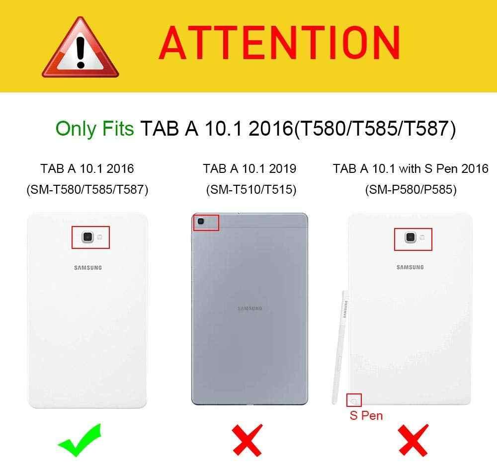 "FundaสำหรับSamsung Galaxy Tab A 10.1 Case,ฝาครอบหนังPU Tab A6 10.1 ""2016แท็บเล็ตSM-T580/T585 Auto Sleep/WakeกรณีCoque"