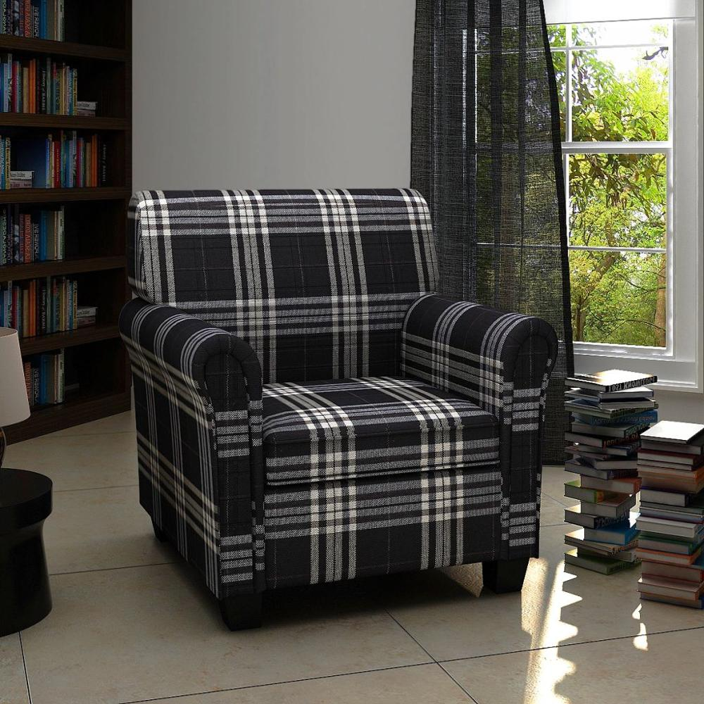 2019 New Arrival Armchair With Cushion Fabric Black For Living Room/Garden/Bedroom Soft Chair Decorative Chair Modern