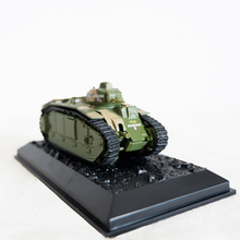 цена на 1/72 Scale Alloy Army Tank Model Char B1 BIS 944 Static model Military Tank Collection Miniature Decoration Kids Gift