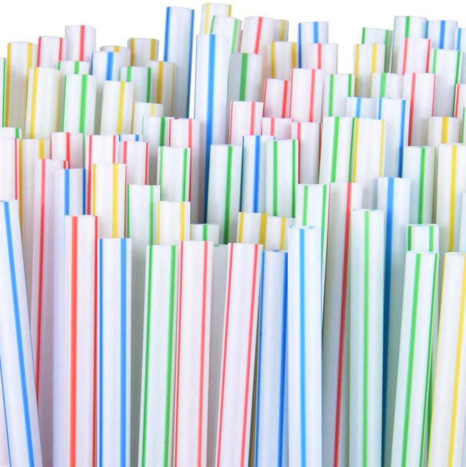 300 шт пластиковые соломинки для питья одноразовые соломинки для вечерние барный напиток магазины дома Кухня Радуга соломы rietjes пластиковые ...