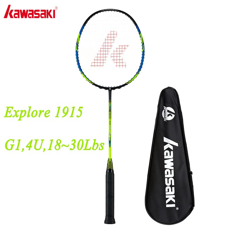 Kawasaki Badminton Rackets Ball Control Type Racquet For Primary Players Single Carbon Racket Explore 1915 With Free Gift