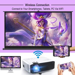 Image 2 - Salange E400S LED Projector, Mini Projector for smartphone, Wireless or USB Mirror For iPhone Android phone, Wifi Video Beamer