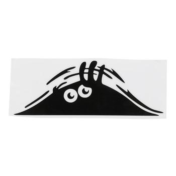 3D Big Eyes Car Stickers Peeking Monster Stickers for Car Decoration Auto Products Funny Car Decal Black Sticker Car Accessories image