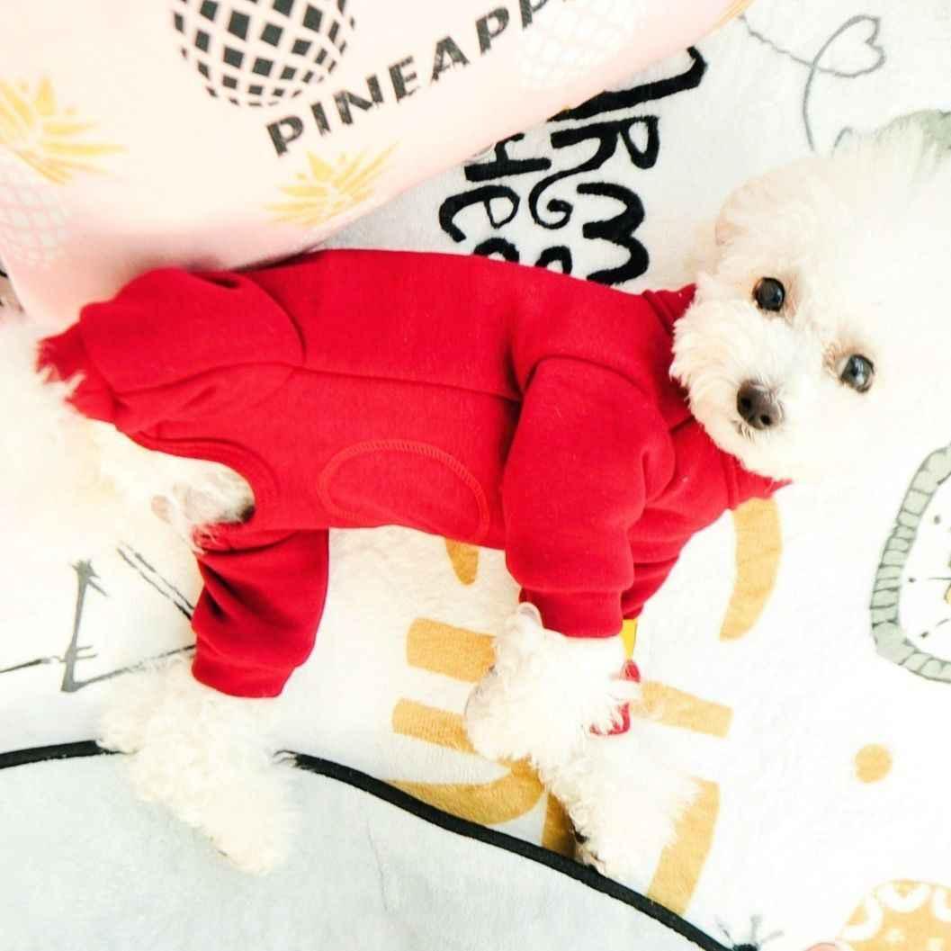 Łatwe zużycie na ubranko dla zwierząt dla psów zwierząt buldog francuski Terrier z długim rękawem jesień zima shih tzu ogólnie Drop Shipping