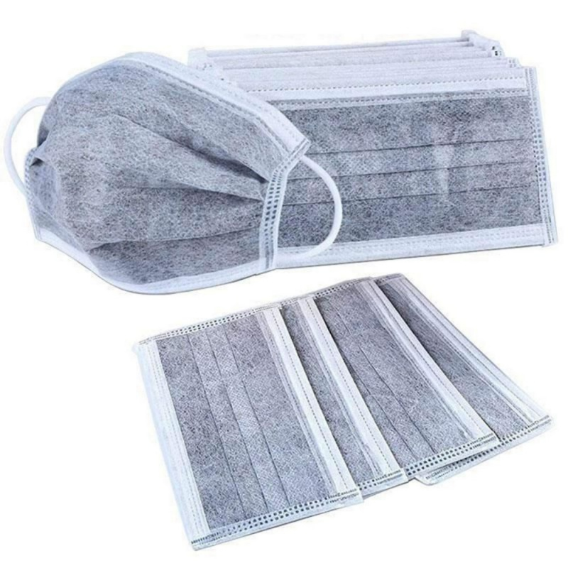 3-Layer Masks Breathable Dust-Proof Face Masks With Elastic Ear Loop Comfortable Blocking Dust Air Pollution Protection