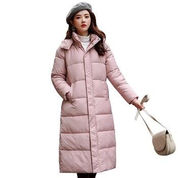 a0e32a1e9315 Invierno negro mujer Sistema de algodón acolchado ropa largo Fondo ...