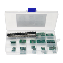 70pcs PCB Board Kit SMD Turn To DIP Adapter Converter Plate SOP8 SOP10 SOP14 SOP16 SOP24 SOP28