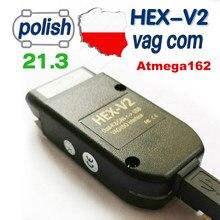 2021 mais novo hex v2 interface vagcom 21.3 vag com 20.12 para vw para audi skoda seat vag 20.4 polonês inglês diagnóstico do carro
