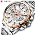 Relogio Masculino CURREN Мужские часы Топ люксовый бренд сталь Бизнес Кварцевые часы мужские водонепроницаемые мужские наручные часы с хронографом