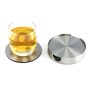 6pcs Coasters Stainless Steel