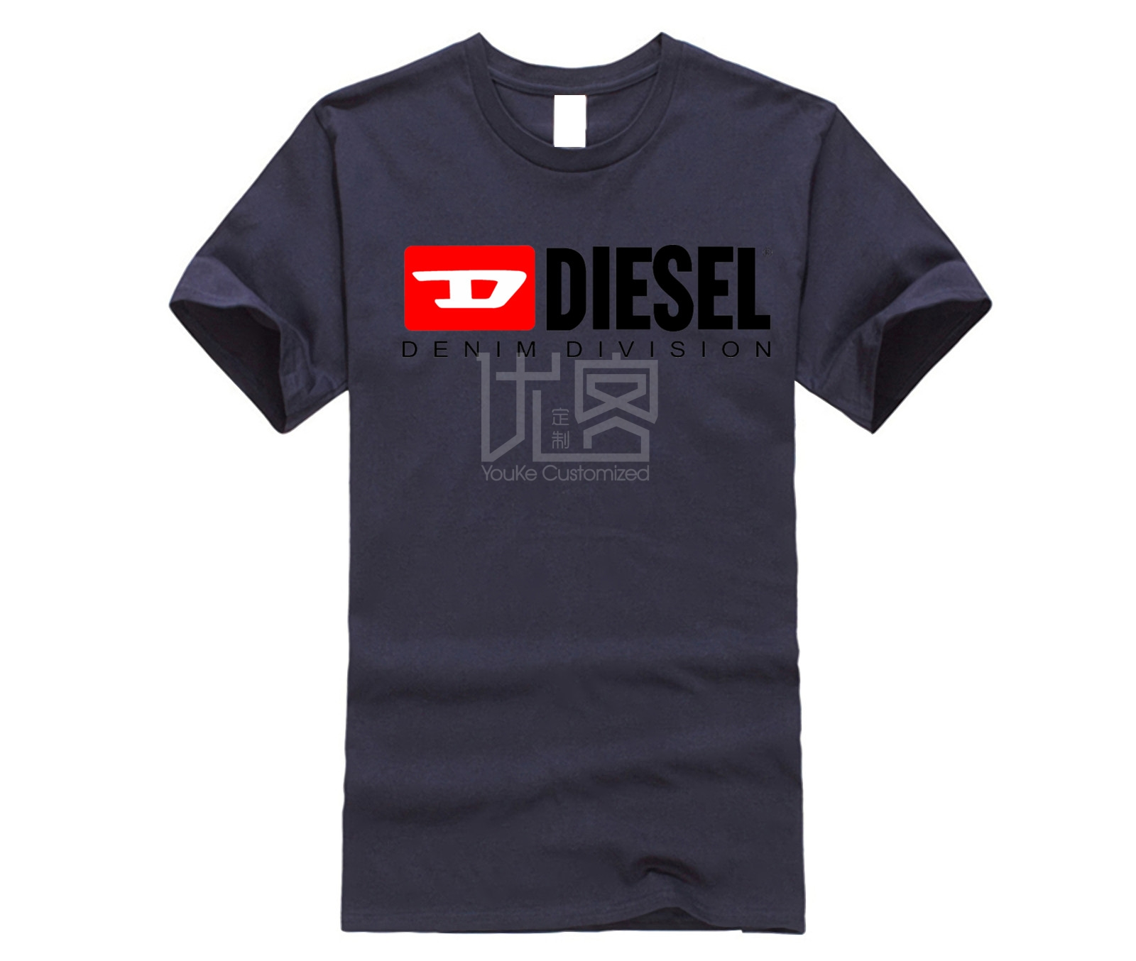 DIESEL Men's 2019 Brand Clothing 100% Cotton Casual T-shirt New Cotton T-shirt Men's Round Neck Short-sleeved Casual T-shirt