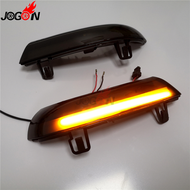 Black For VW GOLF 5 GTI V MK5 Jetta Passat B5.5 B6 Sharan Superb EOS Dynamic LED Turn Signal Light Side Wing Mirror Indicator