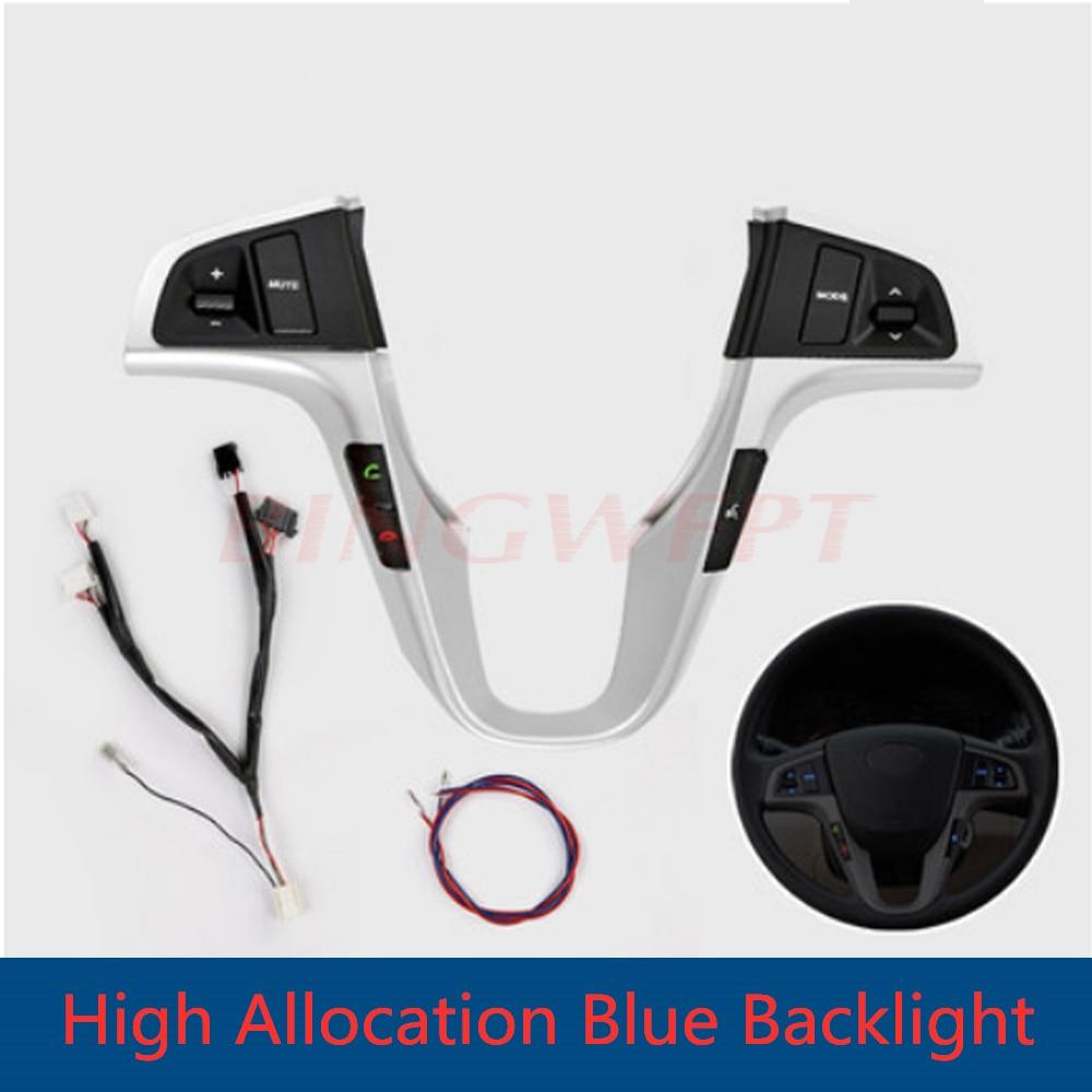 Пульт дистанционного управления на руль для Hyundai VERNA SOLARIS, многофункциональные кнопки громкой связи с Bluetooth, Подключение аудио