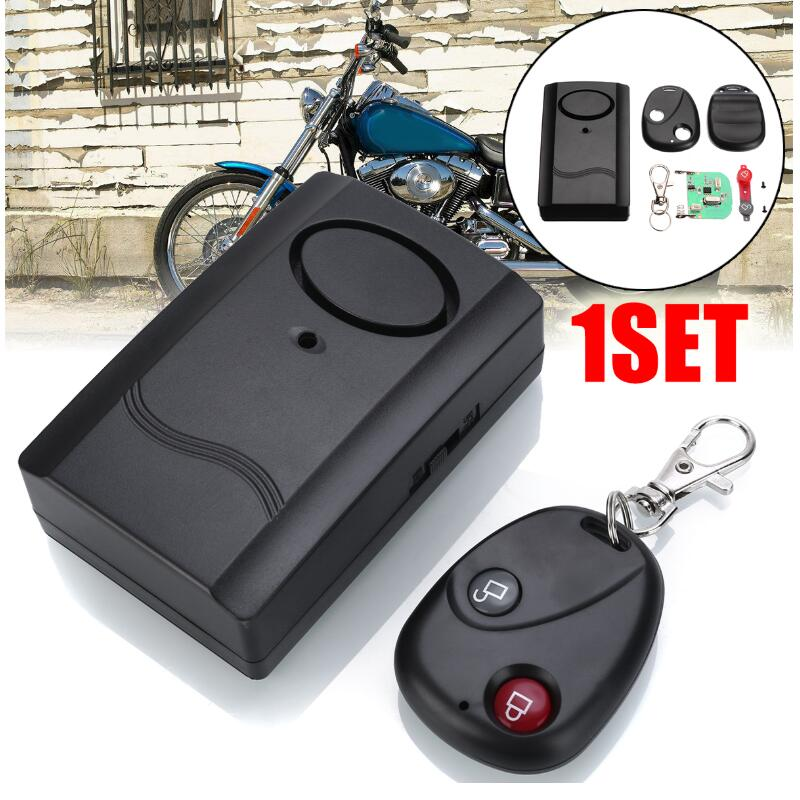 Safety Wireless Remote Control Vibration Motorcycle Car Detector Anti-theft Alarm Security System 120db Hot Sale Drop Shipping