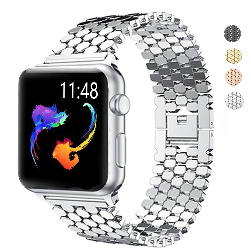 Watch Band For Apple Watch 42mm Series 5 4 3 2 Band Stainless Steel Replacement Strap Bracelet For IWatch 4 40mm 44mm 38mm Strap