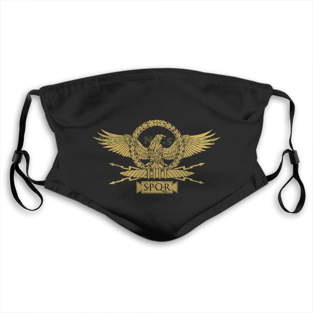 Face Mask Roman Eagle Roma Rom Kaiser Ceasar Emperor Spqr Empire Julius Insignia Summer Hot Sale Print Diy Masks