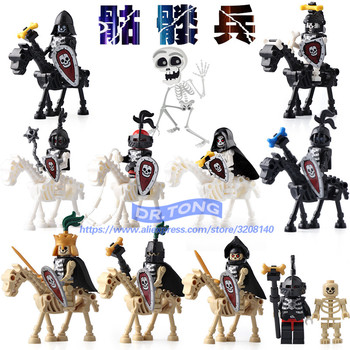 DR.TONG Single Sale AX9815 Skeleton Knights Medieval Castle Knights Skeleton Knights Building Bricks Blocks Toys Children Gifts фото