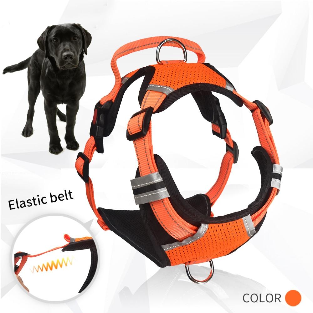 Tineer Reflective Nylon Arn/és para Perros Grandes para Mascotas Chaleco Reflectante 3M con asa Todo el Tiempo Servicio Acolchado Seguridad Ajustable Conductores para Perros Mascota XS, Sky Blue