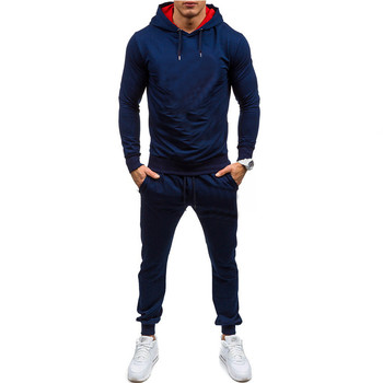 2019 new sports suit men's autumn and winter running fitness sportswear men's casual sports hoodie suit spring and autumn new men s suit sportswear zipper pocket casual sportswear running fitness men s brand suit