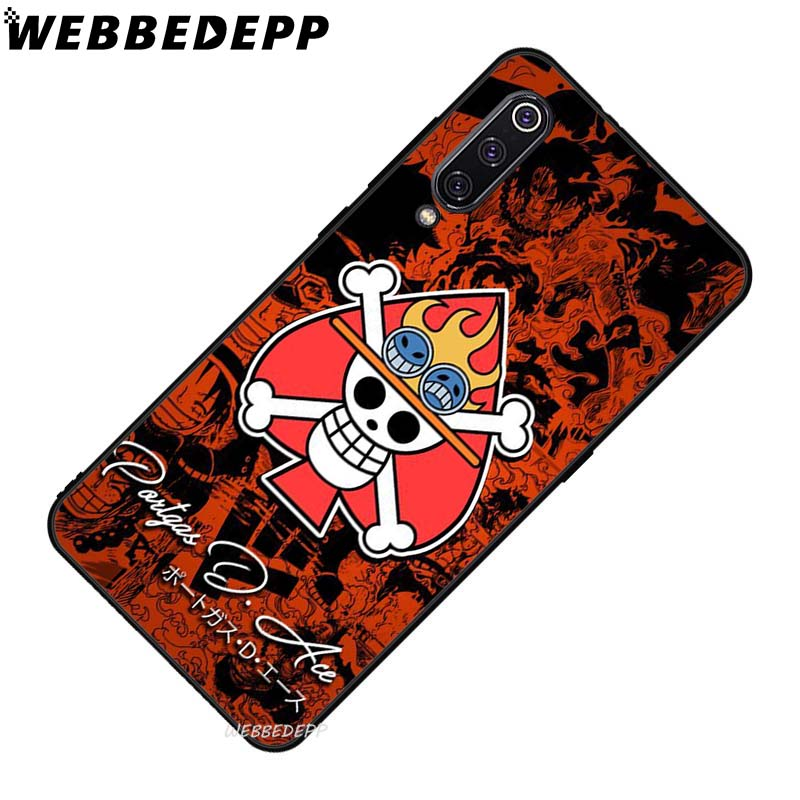 WEBBEDEPP One Piece logo Soft TPU Case for Xiaomi Mi 6 8 A2 Lite 6 9 A1 Mix 2s Max 3 F1 9T A3 Pro CC9E Cover in Fitted Cases from Cellphones Telecommunications