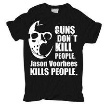 T-Shirt Jason kills people friday vorhees horror tod skimaske maske killer kill Comfortable t shirt,Casual Short Sleeve TEE