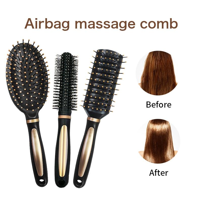 Daily Hair Comb Tool Airbag Anti Static Brush Plastic Massage Hairbrush Straight Supple Haircomb Multi-function SPA HeadMassager