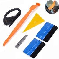 FOSHIO araba sarma manyetik çekçek araçları kiti araba Sticker Styling aracı vinil Wrap folyo Film kesici pencere renklendirme aracı seti