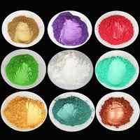 Lot Color DIY Powder Healthy Natural Mineral Mica Powder DIY Pigment Colorant Makeup Eyeshadow Soap Powder For Lips Make Up