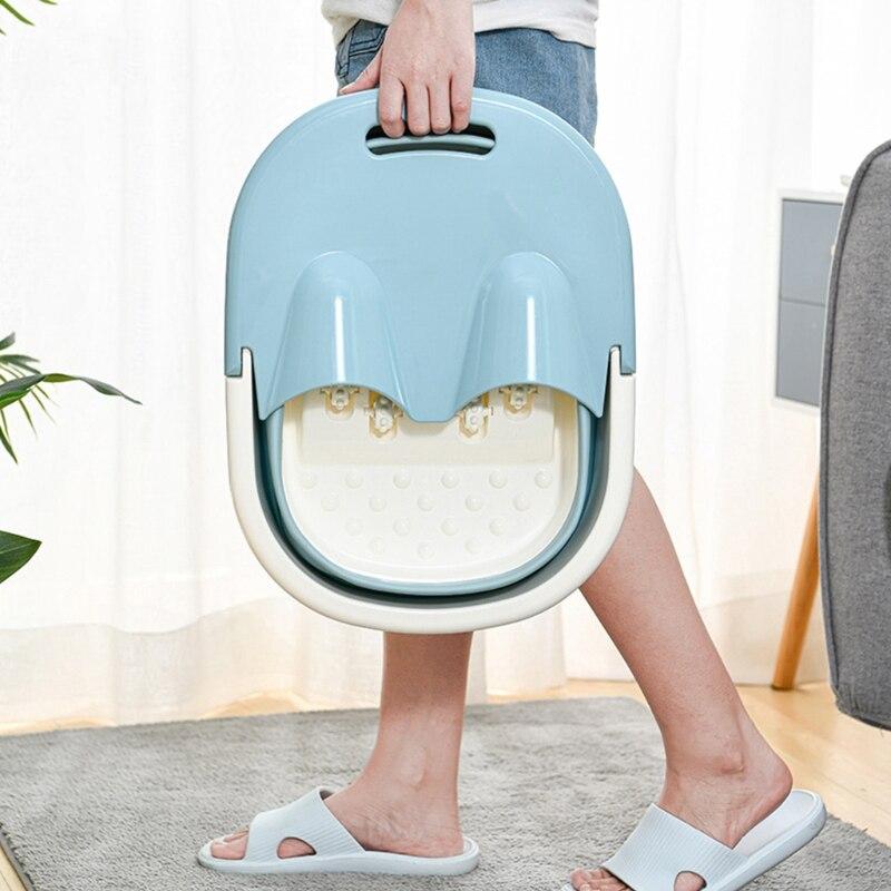 Dobrável pé banheira portátil tambor de banho