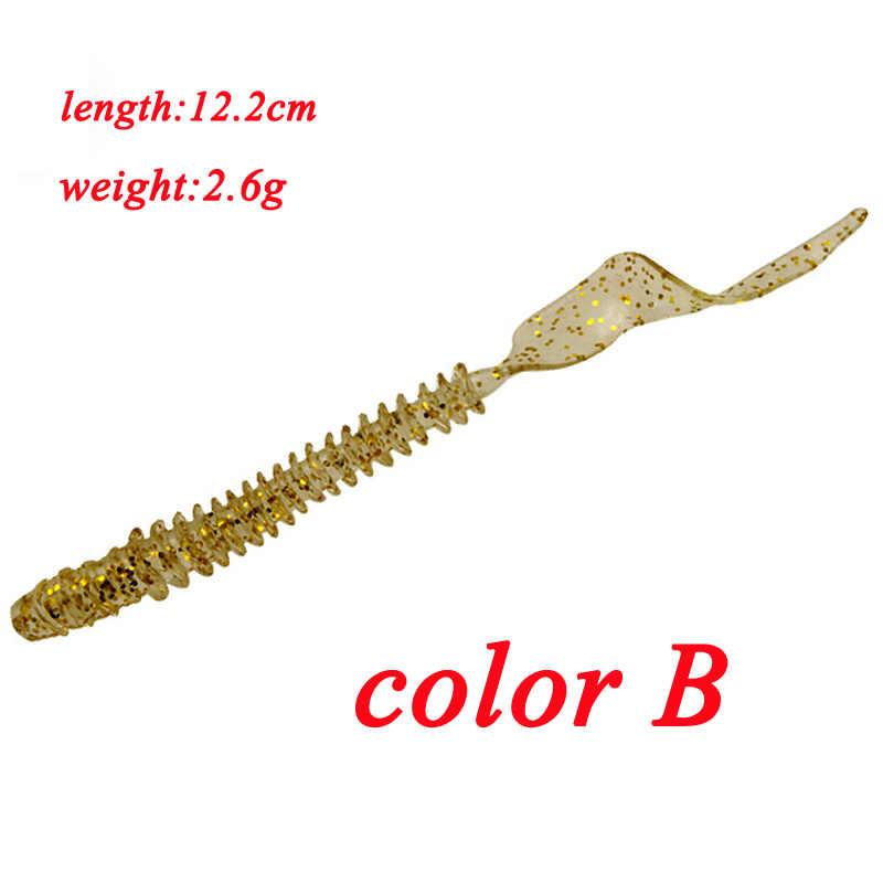 1Pcs JIG Wobbler เหยื่ออ่อน 12.2 ซม.2.6g เหยื่อตกปลาเกลียวยาว Swimbaits ประดิษฐ์เหยื่อ bass Fishing Tackle