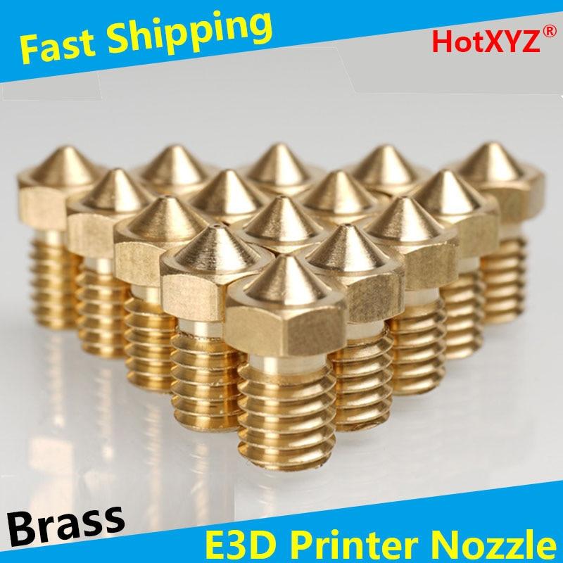 HotXYZ E3D Extra Nozzles 3D Print Parts Extruder Brass Nozzles for V5 V6 3D Printer Accessories M6 Threaded Extruder Print Head
