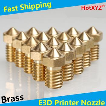 HotXYZ E3D dodatkowe dysze części do drukarek 3D wytłaczarki dysze mosiężne do drukarek 3D V5 V6 akcesoria M6 wytłaczarka gwintowana głowica drukująca tanie i dobre opinie Metalworking NONE CN (pochodzenie) Miedziane E3D Nozzles