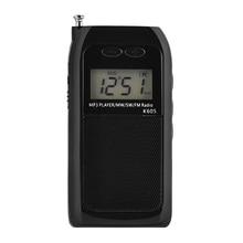 Mini Radio Fm Am Sw Mw Digital Tuning Radio Receiver Mp3 Music Player Charging Radio (500MAh) цена 2017