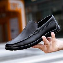 Shoes Men Casual Genuine-Leather Summer Loafer Flats Slip-On Comfortable Designer Soft