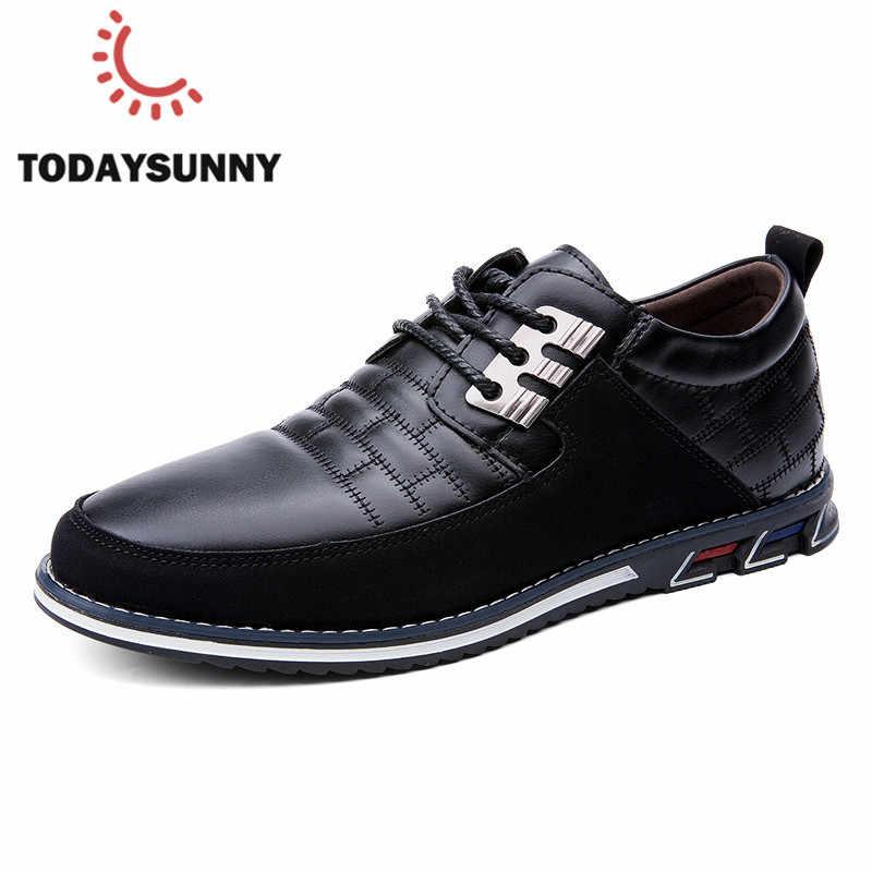 Giày Nam Thời Trang Giày Nam Buộc Dây Giày Đi Dạo Mềm Mại Kinh Doanh Áo Cưới Giày Size Lớn 38- 48 # Mocasines Hombre