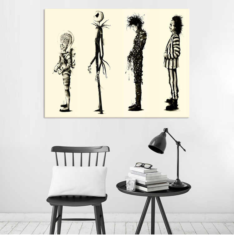 Tim Burton Movie Edward Scissorhands Movie Poster HD Print Poster Wall Art Pictures On The Wall For Gift No frame