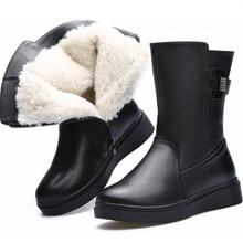 2020 New Winter Snow Boots Fashion Rhinestone Genuine Leather Shoes Woman Boots Comfort Wool Boots Women Warm Shoes Martin Boots zxryxgs brand shoes woman single ankle boots 2018 new fashion warm comfort plus velvet and wool snow boots genuine leather boots
