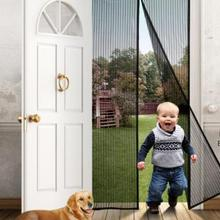 Curtain Magnets Mesh-Screen Mosquito-Net Insect-Sandfly-Netting Door with on Hand-Free