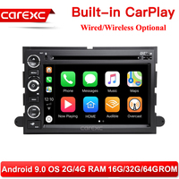 2 Din Android 9.0 Car DVD Player For Ford F150 F350 F450 F550 F250 Fusion Expedition Mustang Explorer Edge Radio CarPlay Head