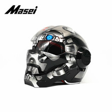 Masei IRONMAN helmet motorcycle half open face casque motocross car accessories sticker casco moto Autobot1