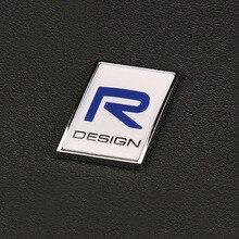 3D наклейка Polestar R-DESIGN с логотипом, крышка багажника, помеченная аксессуарами, вывеска из цинкового сплава для Volvo Polestar, наклейка