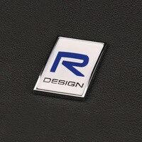 3D sticker Polestar R DESIGN mileage logo Trunk lid marked Accessories Zinc alloy Signage Refit For Volvo Polestar sticker